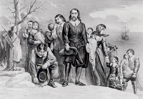 The Landing of the Pilgrims at Plymouth, Mass. Dec. 22nd, 1620, pub. 1876