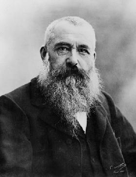 Portrait of Claude Monet (1841-1926) 1901 (b/w photo) 16th