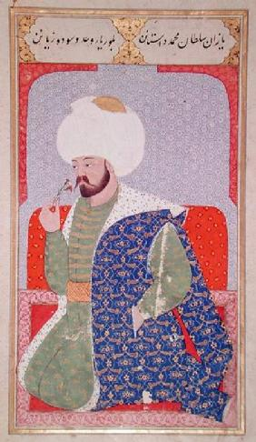 Ms Hazine.1563 Mehmed II (1432-1481), from the 'Semailname' 1579