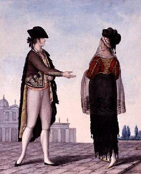 Nobleman and Noblewoman from Madrid late 18th
