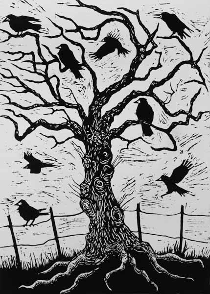 Rook Tree, 1999 (woodcut)