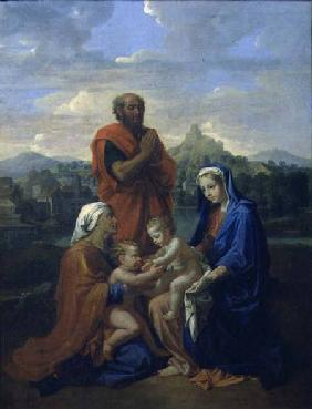 The Holy Family with St. John, St. Elizabeth and St. Joseph Praying 1656