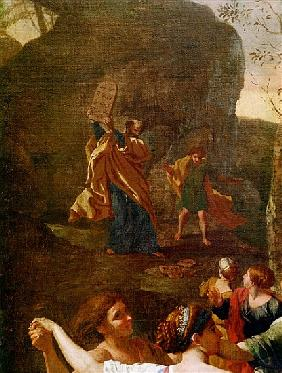 The Adoration of the Golden Calf, before 1634 (detail of 3738)