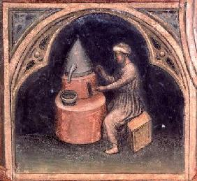 The Alchemist, from 'The Working World' cycle after Giotto c.1450