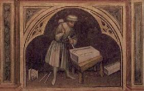 The Stone Cutter, from 'The Working World' cycle after Giotto c.1450