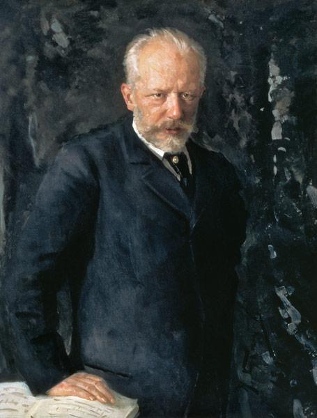 Portrait of Piotr Ilyich Tchaikovsky (1840-93), Russian composer 1893