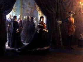Catherine II (1729-96) at the Coffin of Empress Elizabeth (1709-61) 1874