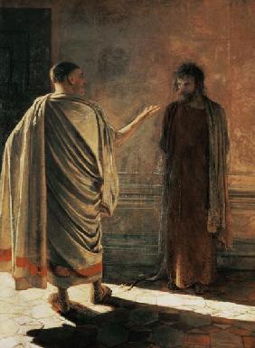 Kunstdruck von Nikolai Nikolajewitsch Ge - What is Truth? (Christ and Pilate)