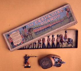 31:Box of tin soldiers by Brittain, 1890's 19th
