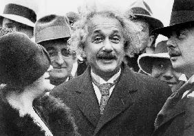 Albert Einstein physician author of the Relative Theory and his 2nd wife Elsa Lowenthal on the SS Be in Decembe