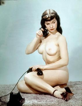 American pin-up Betty Page c. 1952