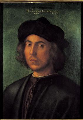 A.Dürer / Portr.of a Young Man / c.1506