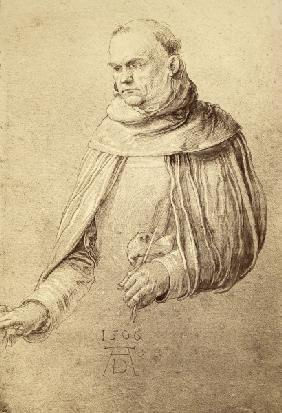 A.Dürer / St. Dominic, drawing