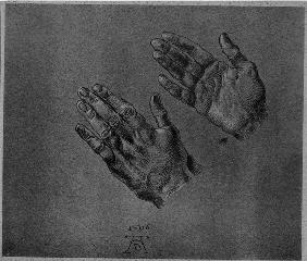 A.Dürer, Hands of the Emperor / Drawing
