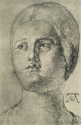 A.Dürer, Head of a Woman /Draw./ c.1505