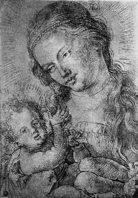 A.Dürer, Madonna and Child / c.1510/20