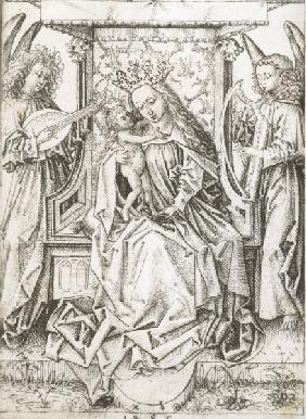 A.Dürer, Madonna w.Child & Angels /1485