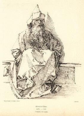 A.Dürer, Seated Bearded Man / Draw.