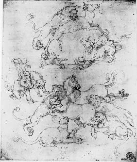 A.Dürer, Study of Attacked Animals/1505