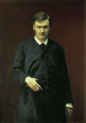 A.K.Glazunov / painting by Repin.