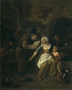 Alchemist / Painting by Jan Steen / 1668