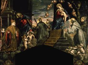 Andrea Grittin worshipping / Tintoretto