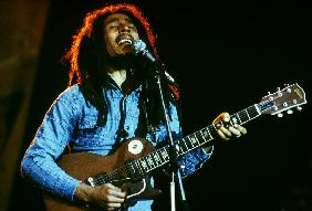 Bob Marley on stage at Roxy Los Angeles May 26, 19