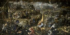 Battle of Zara /Ptg.by Tintoretto/1584/7