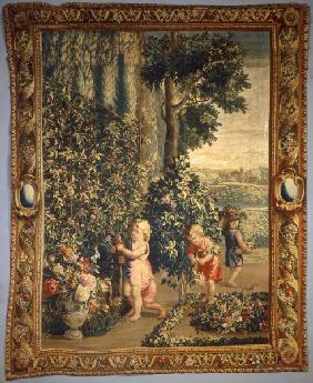 Boys as gardeners / Tapestry C18