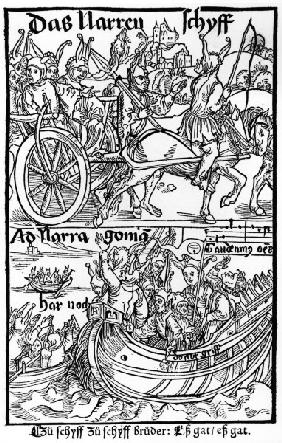 Brant, Ship of Fools / Woodcut / Dürer