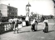 Beggars and Peasants, Chioggia (b/w photo) 19th