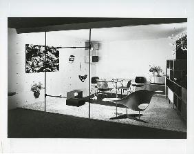 Charles and Ray Eames stand, page 80 from the catalogue for 'An Exhibition for Modern Living' 1949