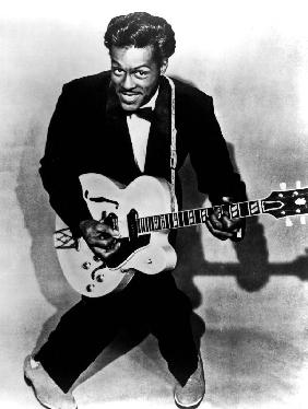 Charles Edward Anderson Berry aka Chuck Berry rock and roll guitarist c. 1955