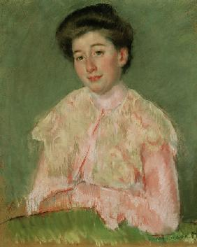 Cassatt / Smiling Woman in Pink Blouse