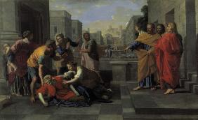 Death of Sapphira / Poussin / c.1654/56