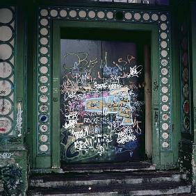 Doors with graffiti