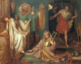 D.Rossetti, Return of Tibullus, 1868.