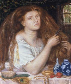 D.Rossetti, Woman Combing her Hair, 1865
