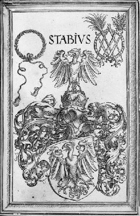 Dürer, Coat of Arms of Stabius / Woodcut