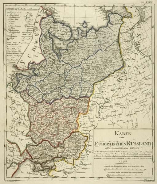 europ isch ru land landkarte 1795 artist artist als kunstdruck oder handgemaltes gem lde. Black Bedroom Furniture Sets. Home Design Ideas