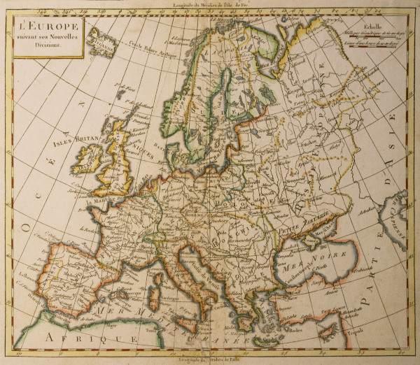 europa landkarte artist artist als kunstdruck oder handgemaltes gem lde. Black Bedroom Furniture Sets. Home Design Ideas