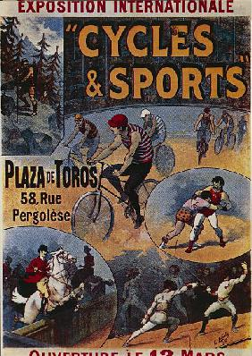 Exposition Internationale Cycles et Sports, advertisement for international exhibition dedicated to  1892