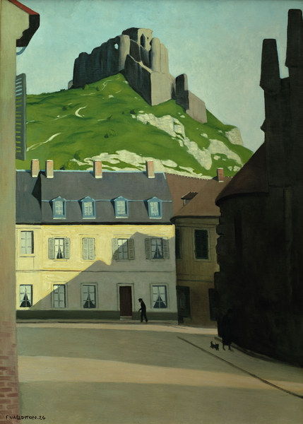 F.Vallotton, Platz in Les Andelys - Felix Vallotton als Kunstdruck ...