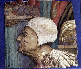Fragment of a Tapestry Showing a Portrait of the Doge Loredan (textile) 19th