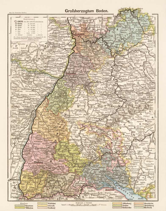 Baden Landkarte