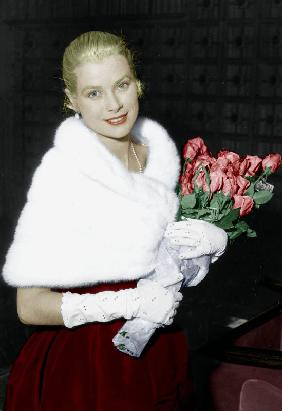 Grace Kelly at Cannes film festival May 6, 195