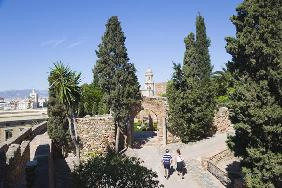 Gardens in the Alcazaba, Malaga, Costa del Sol (photo)