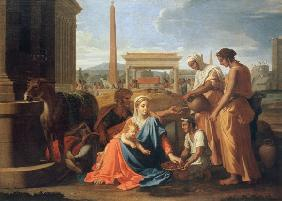 Holy Family in Egypt / Poussin / 1655/57