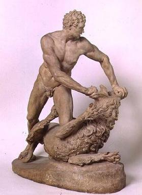 Hercules and the Nemean Lion, by Stefano Maderno (1576-1636) (terracotta) 19th