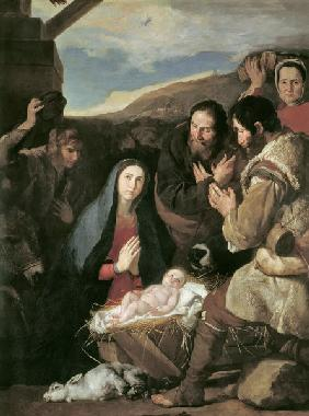 J.de Ribera / Adoration of the sheperds